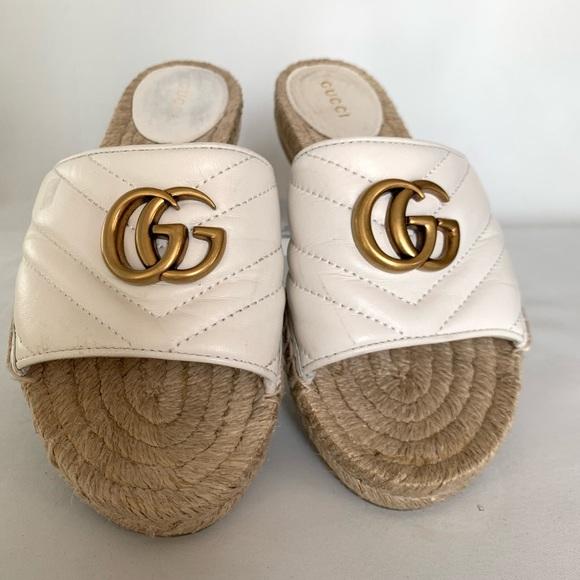 Gucci Leather Espadrilles Sandals